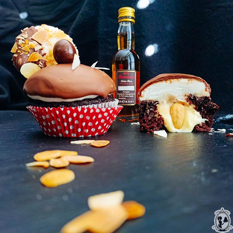 Rum-kokos rafaello cupcake